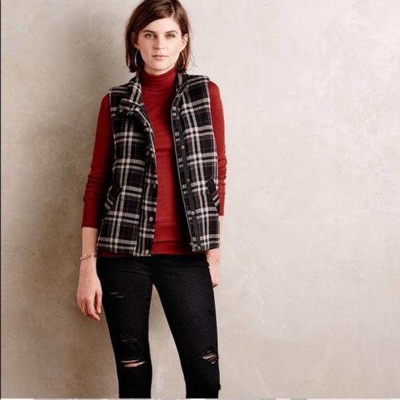 Anthropologie Jackets & Blazers - Anthropologie Hei Hei Quincy Plaid Vest in Black